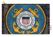 United States Coast Guard Logo Recycled Vintage License Plate Art Carry-all Pouch