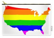 United States Gay Pride Flag Carry-all Pouch