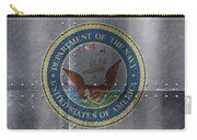 United States Navy Logo On Riveted Steel Boat Side Carry-all Pouch