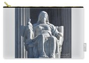 United States Supreme Court, The Contemplation Of Justice Statue, Washington, Dc 3 Carry-all Pouch