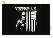 United States Veteran Flag And Soldier Carry-all Pouch