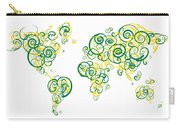 University Of Alberta Colors Swirl Map Of The World Atlas Carry-all Pouch