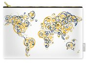 University Of California Berkeley Colors Swirl Map Of The World  Carry-all Pouch