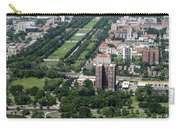 University Of Chicago Booth School Of Business And Midway Plaisance Park Aerial Photo Carry-all Pouch