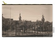 University Of Tampa With Old World Framing Carry-all Pouch by Carol Groenen
