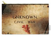 Unknown Civil War Carry-all Pouch