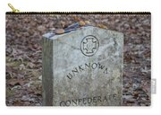 Unknown Confederate Soldier - Natchez Trace Carry-all Pouch