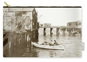 Unloading Small Fishing Boat At Fisherman's Wharf  1920 Carry-all Pouch