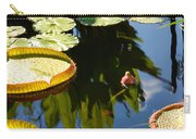 Unopened Water Lily And Reflections Carry-all Pouch
