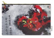 Unread Poem Black And Red Paintings Carry-all Pouch