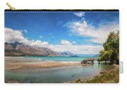 Unspoiled Alpine Scenery In Kinloch Wharf, New Zealand Carry-all Pouch