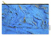 Untitled-weathered Wood Design In Blue Carry-all Pouch
