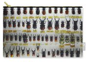 Unusual Pattern Made Out Of Many Stag Beetles Of Different Sizes Carry-all Pouch