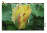 Unusual Yellow Tulip With Dew On The Petals Carry-all Pouch