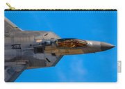 Up Close F-22 Raptor Carry-all Pouch