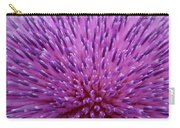 Up Close On Musk Thistle Bloom Carry-all Pouch