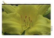 Up-close With A Very Bright Yellow Daylily Flower Carry-all Pouch