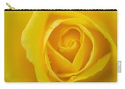 Up Close Yellow Rose Carry-all Pouch