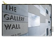 Up The Wall-the Gallery Wall Logo Carry-all Pouch