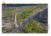 Up Tracks Cross The Mojave River Carry-all Pouch by Jim Thompson