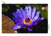Upbeat Violet Elegance - The Beauty Of Waterlilies  Carry-all Pouch