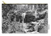 Upper Falls In Snow's Cover Carry-all Pouch