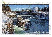 Upper Falls Winter - Spokane Carry-all Pouch