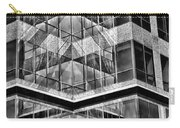 Urban Abstract - Mirrored High-rise Building In Black And White Carry-all Pouch