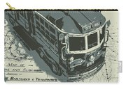 Urban Trams And Old Maps Carry-all Pouch