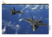 U.s. Air Force F-22 Raptors In Flight Carry-all Pouch