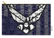 Us Air Force Logo Recycled Vintage License Plate Art Carry-all Pouch