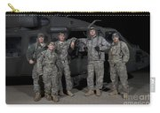 U.s. Army Crew Chiefs Pose In Front Carry-all Pouch