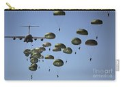 U.s. Army Paratroopers Jumping Carry-all Pouch by Stocktrek Images