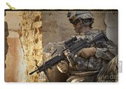 U.s. Army Ranger In Afghanistan Combat Carry-all Pouch by Tom Weber
