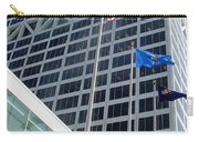 Us Bank With Flags Carry-all Pouch