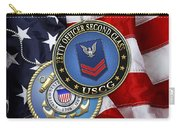 U. S. Coast Guard Petty Officer Second Class - Uscg Po2 Rank Insignia Over Us Flag Carry-all Pouch