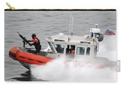 U.s. Coast Guardsmen Aboard A Security Carry-all Pouch by Stocktrek Images