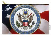 U. S. Department Of State - Dos Emblem Over U.s. Flag Carry-all Pouch