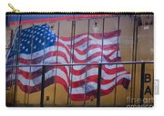 Us Flag On Side Of Freight Engine Carry-all Pouch