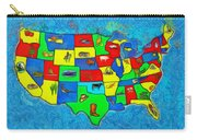 Us Map With Theme  - Van Gogh Style -  - Da Carry-all Pouch