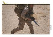 U.s. Marine Runs To The Uh-60 Black Carry-all Pouch