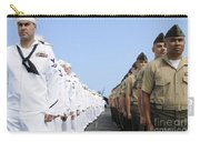 U.s. Marines And Sailors Stand Carry-all Pouch