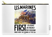 Us Marines - First To Fight In France Carry-all Pouch by War Is Hell Store