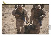 U.s. Marines Prepare To Board A Uh-60 Carry-all Pouch