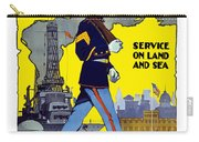 U.s. Marines - Service On Land And Sea Carry-all Pouch