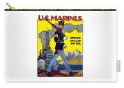 U.s. Marines - Service On Land And Sea Carry-all Pouch by War Is Hell Store