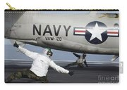 U.s. Navy Sailors Give The Thumbs Carry-all Pouch by Stocktrek Images