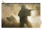 U.s. Navy Seals During A Combat Scene Carry-all Pouch by Tom Weber