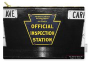Us Route 66 Smaterjax Dwight Il Official Inspection Signage Carry-all Pouch