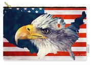 Usa Flag Eagle Carry-all Pouch